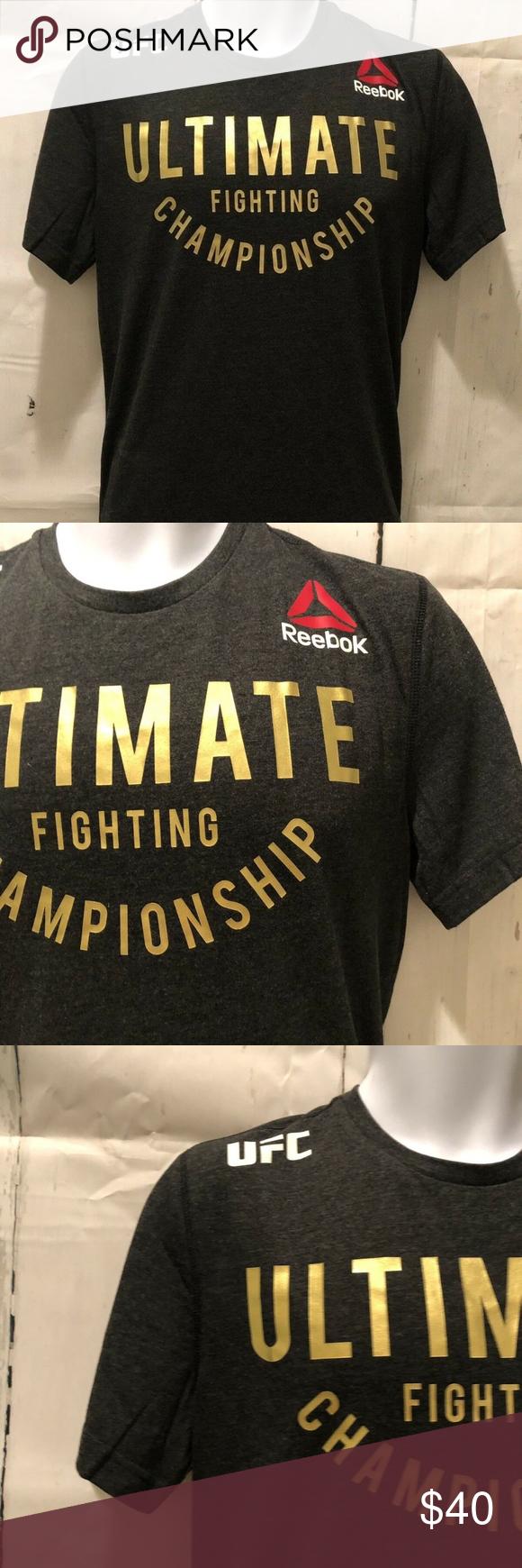 9e6d0918506e UFC Reebok TShirt Ultimate Fighting Championship M UFC Reebok TShirt  Ultimate Fighting Championship Shirt Tee Gold Detail Official - Medium  Condition: New ...