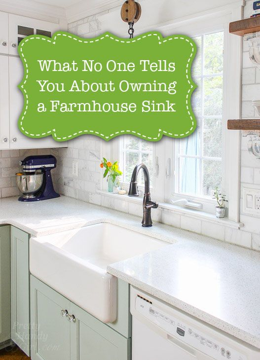 What No One Will Tell You About Farmhouse Sinks is part of  - When we bought our farmhouse sink, I naively thought I wanted one because they looked so beautiful in photos of farmhouse style kitchens  Now that we've had our farmhouse sink for three years, I want to