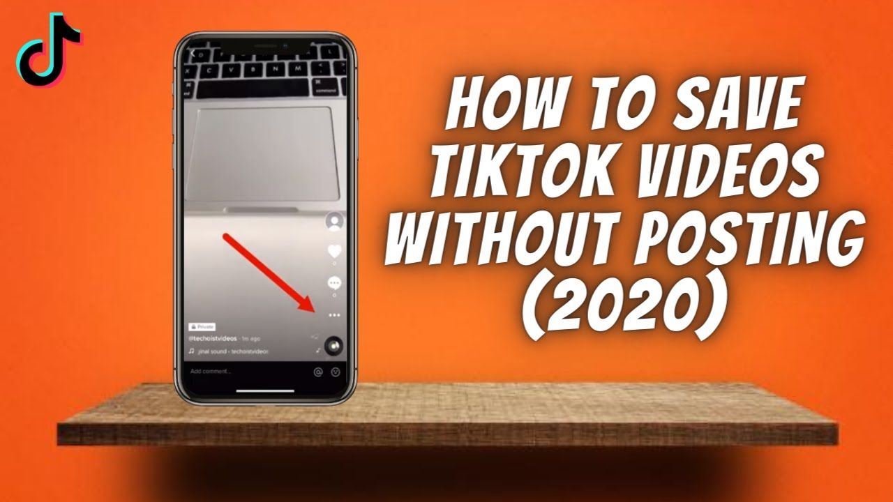 How To Save Tiktok Videos Without Posting 2020 Download Tik Tok Vid Tik Tok Tok Phone