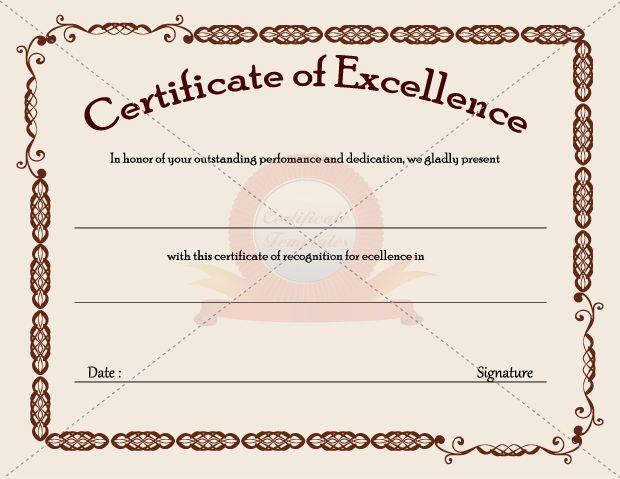 Business Certificate Templates  Certificate Template