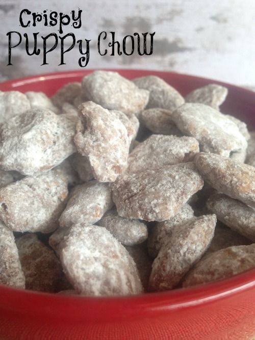 Reeses Pieces Puppy Chow Recipe Puppy Chow Recipes Snack Mix Sweet Snacks