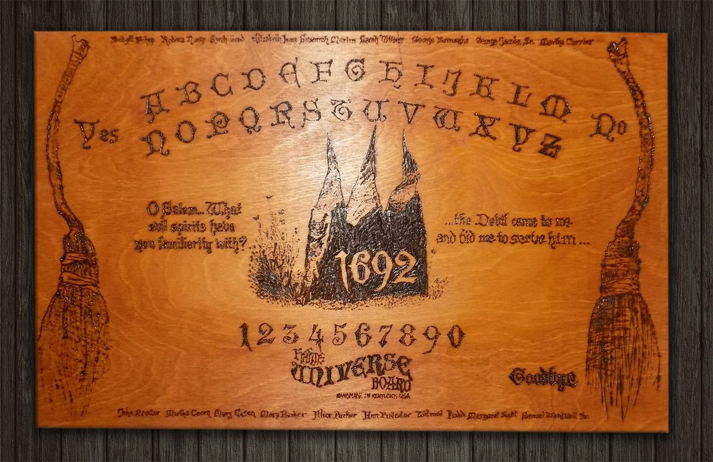 Large 24 X 15 Salem Witch Wooden Ouija Boardspirit Board For Sale