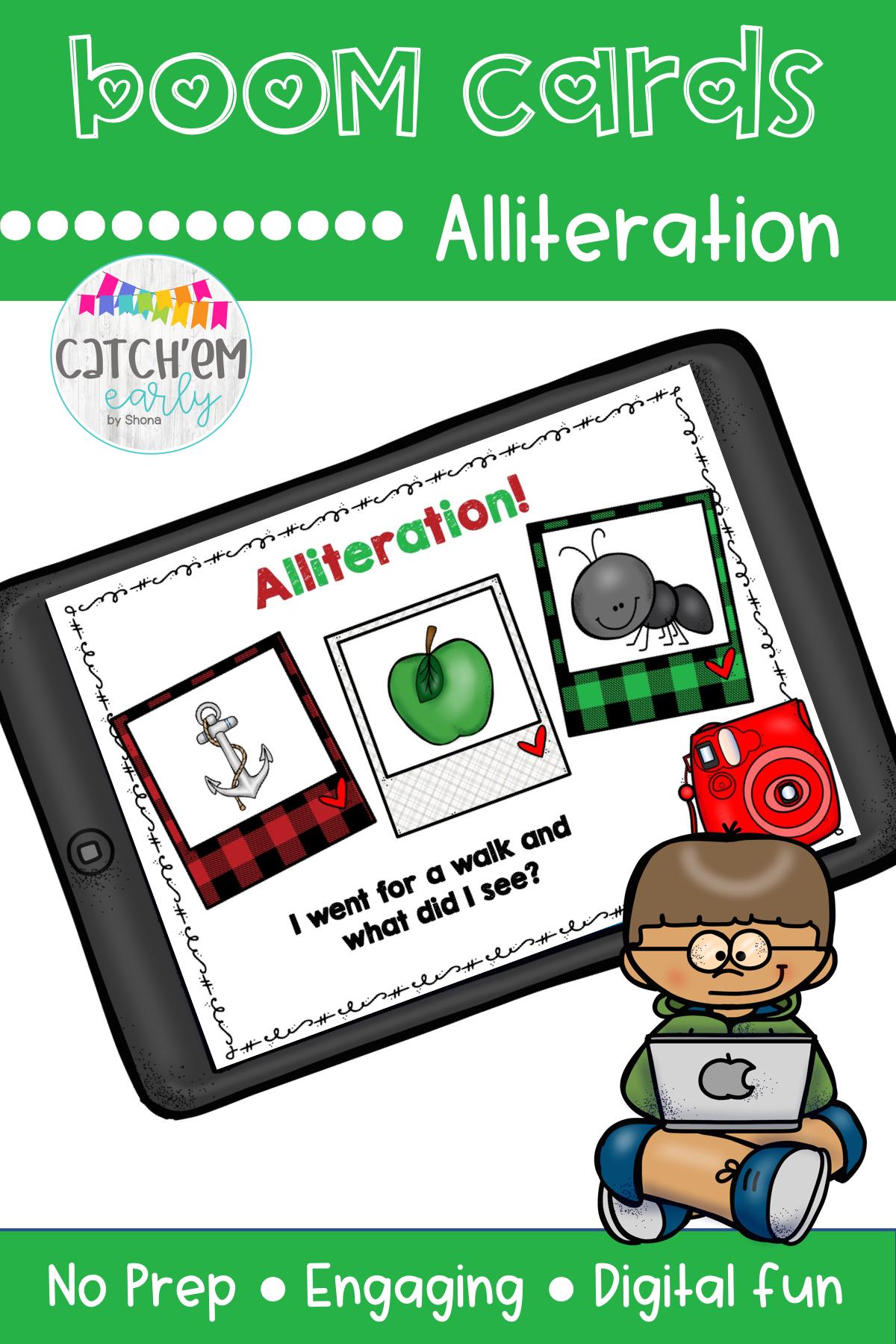 Alliteration Amp Boom Cards In