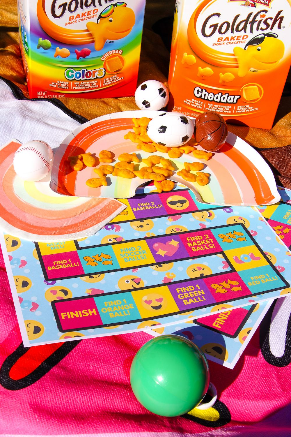 DIY Find The Goldfish® Crackers Spring Time Game!