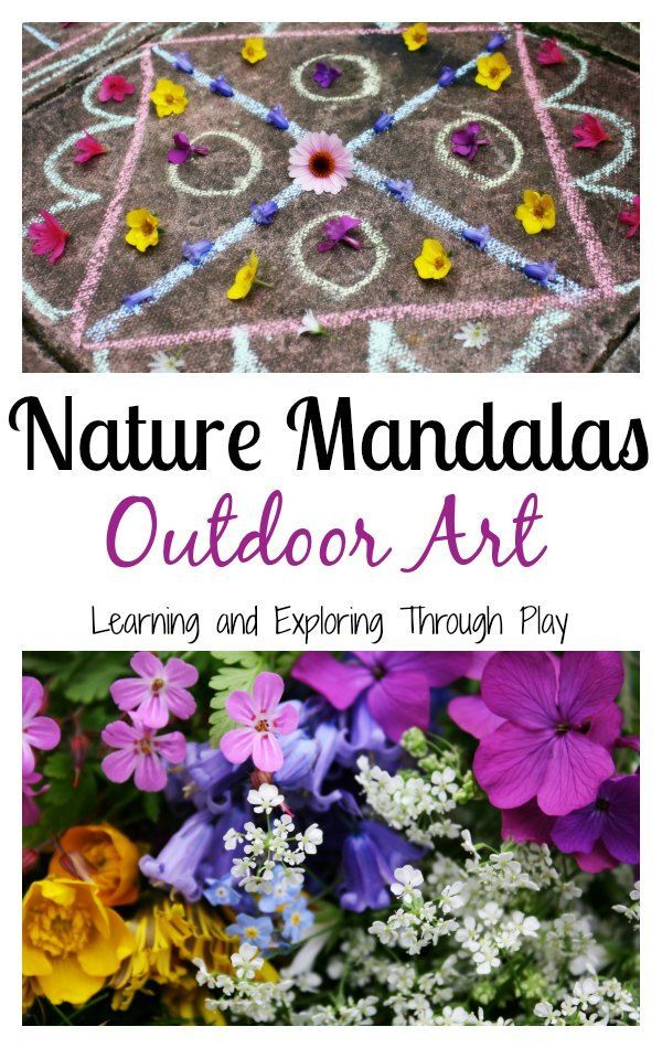 Nature Mandalas Outdoor Art is part of Outdoor learning activities, Outdoor art, Art, Outdoor fun for kids, Outdoor learning, Nature kids - After a woodland walk of collecting flowers, we headed for home to create Nature Mandalas  A great opportunity to develop and teach Numeracy concepts even for the youngest of children