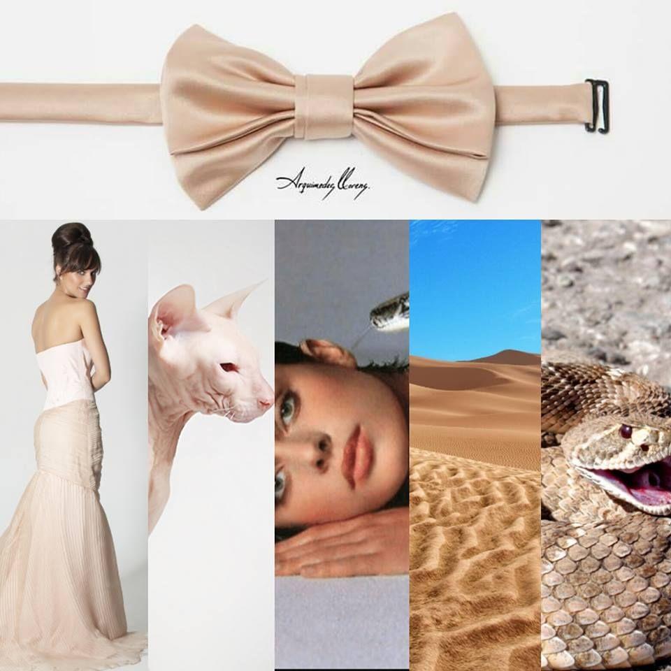 Pajarita Classic por ARQUIMEDES LLORENS Color: NUDE #pajarita #bowtie #bowties #pajaritas #corbatin #gala #etiqueta #smoking #elegante #inspiración