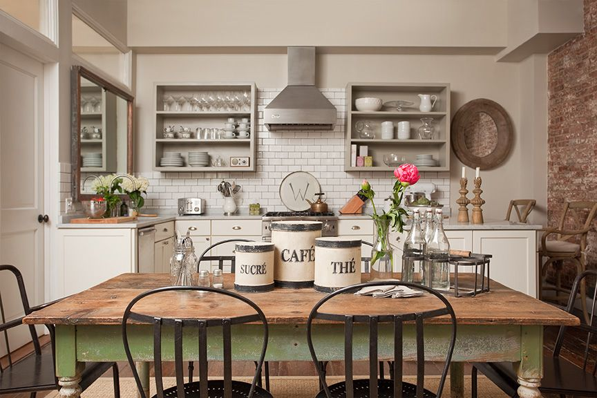 Rustic chic kitchen design by jenny wolf interiors - Cocinas wolf ...