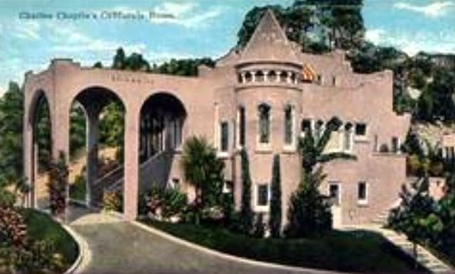 old hollywood estates An early postcard of Mary Astors first