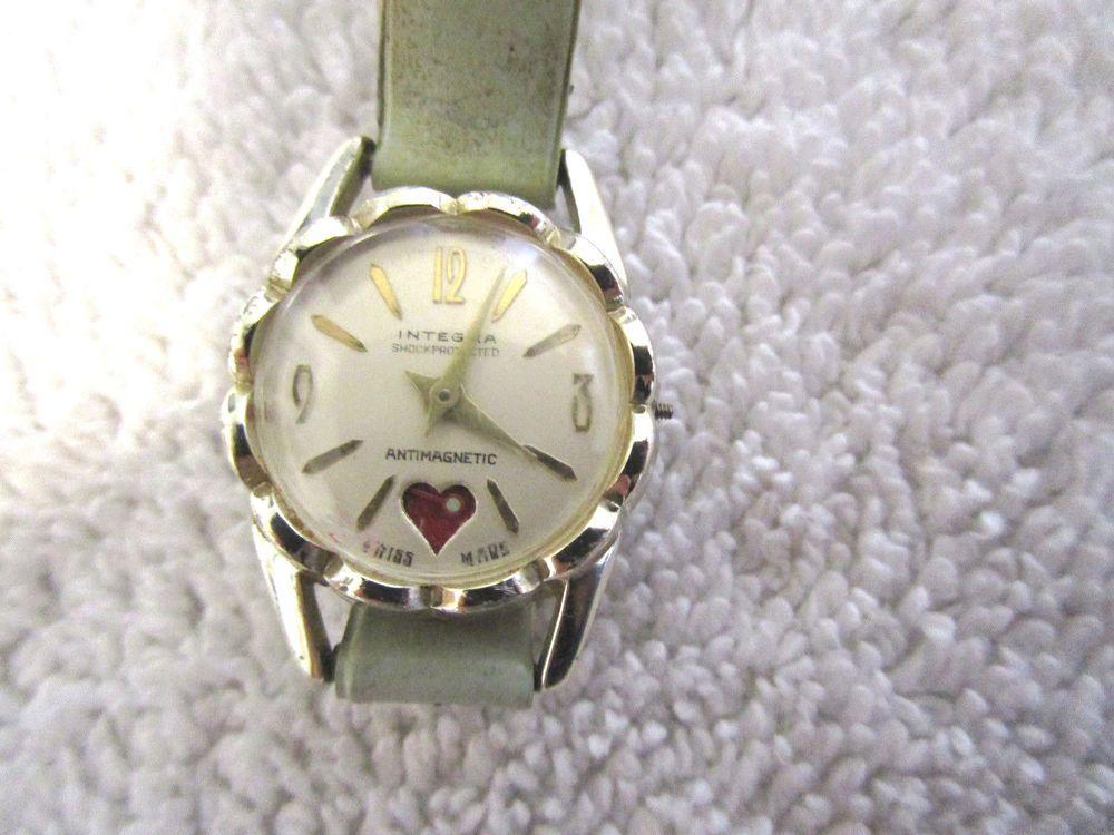Integra Antimagnetic Swiss Made Watch Vintage Integra Fun Unique