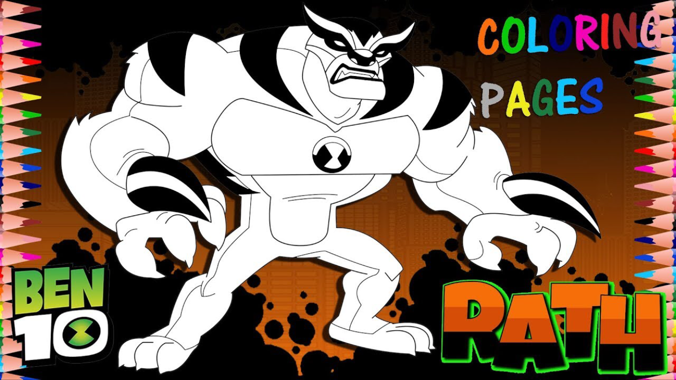 Cartoon Network Ben 10 Reboot Rath Coloring Page Cool Coloring Pages Toddler Coloring Book Coloring Pages