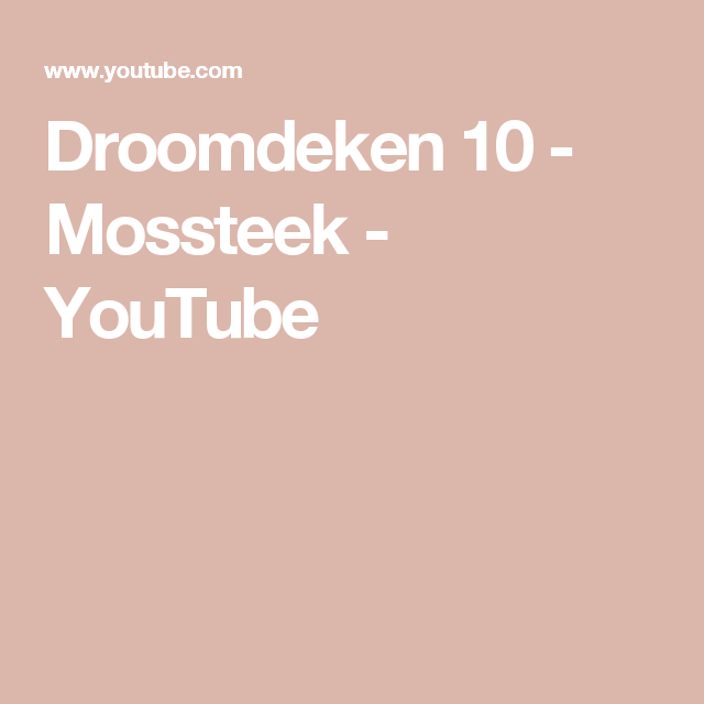 Droomdeken 10 Mossteek Youtube Haken Pinterest Youtube