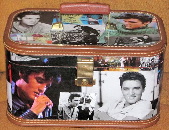 Made To Order Elvis Presley Upcycled Train Case Sold Www