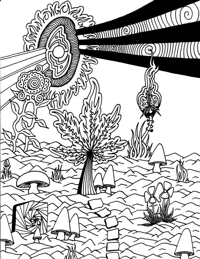 free adult coloring pages weed - AOL Image Search Results | josh ...