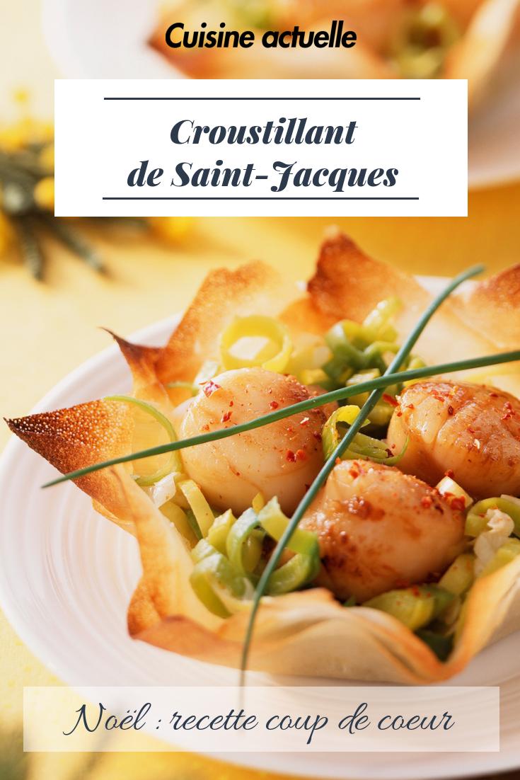 Idée Repas Noel Simple Croustillant de Saint Jacques   Recettes | Recette | Recette repas