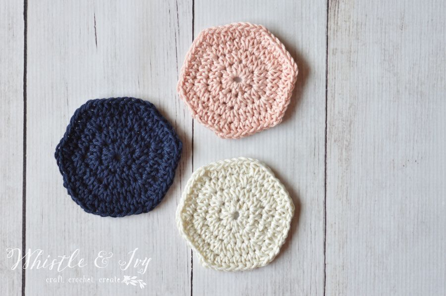 Simple Solid Hexagon Crochet Pattern