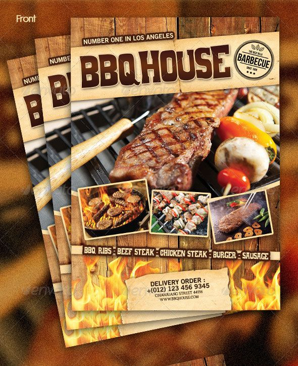 High Quality Restaurant Menu Design Templates  Steak Menu