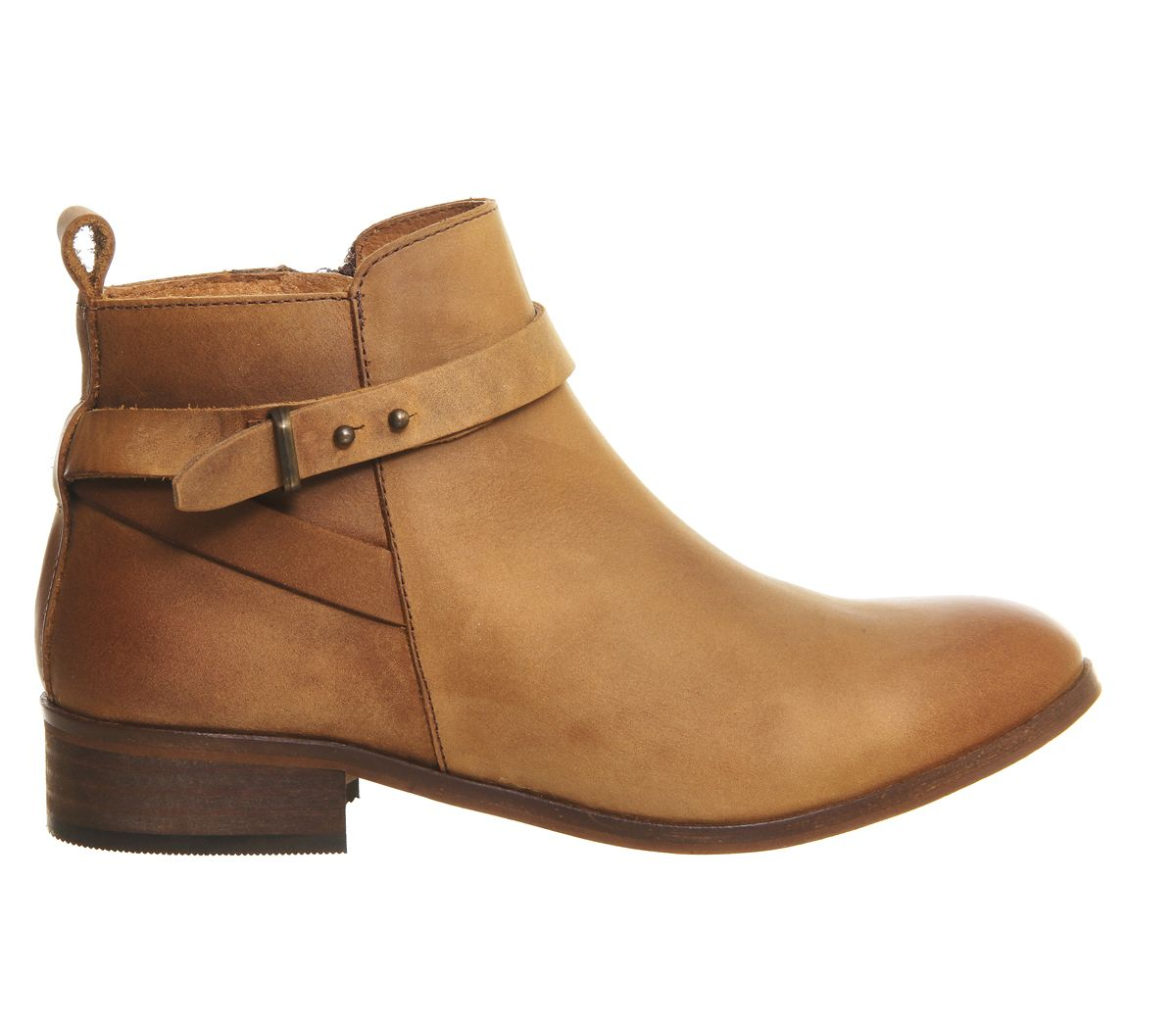 Ankle Boots Tan Leather