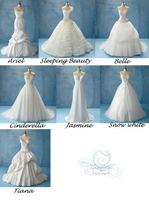 wedding dresses inspired by the disney princesses, designed by ...