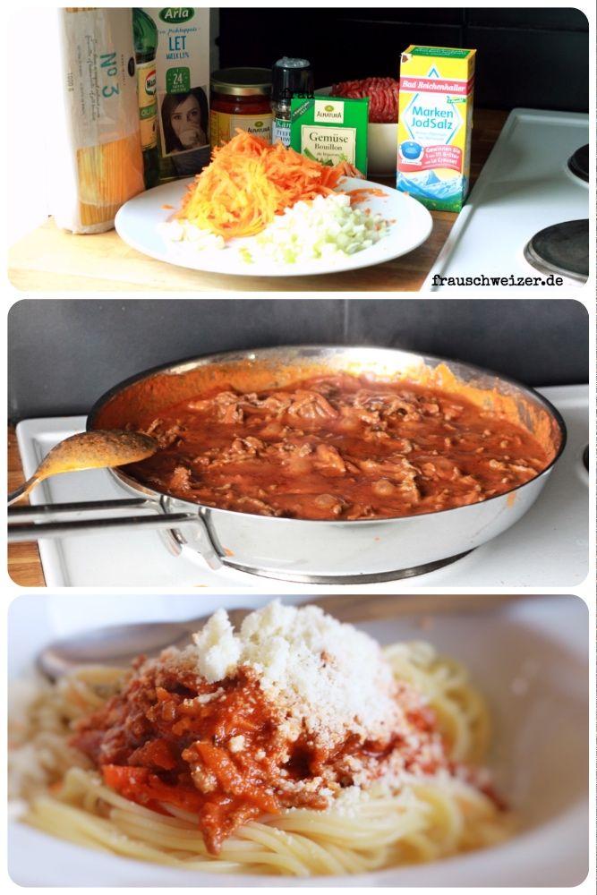 Urlaubsessen Spaghettie Bolognese Schnelles Essen Wenig Zutaten Essen Fur Kinder Kinderessen Einfaches Essen Rezept Nudeln Urlaub Essen Rezepte Essen