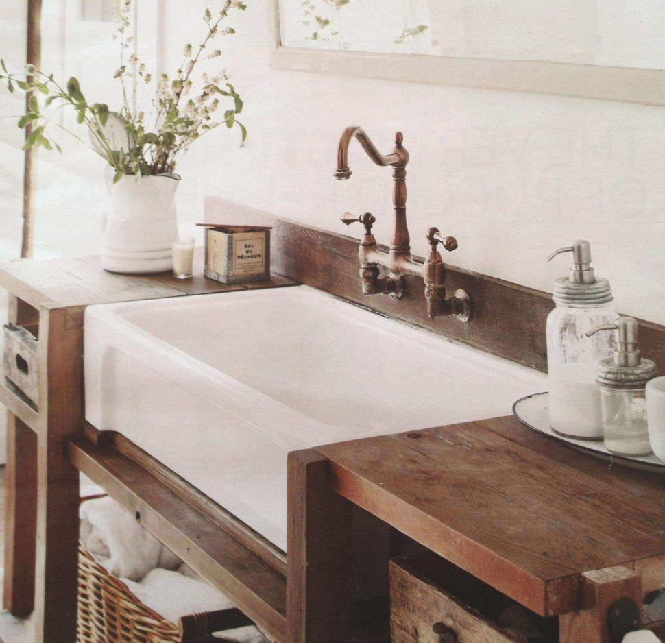 gorgeous farm style bathroom vanity