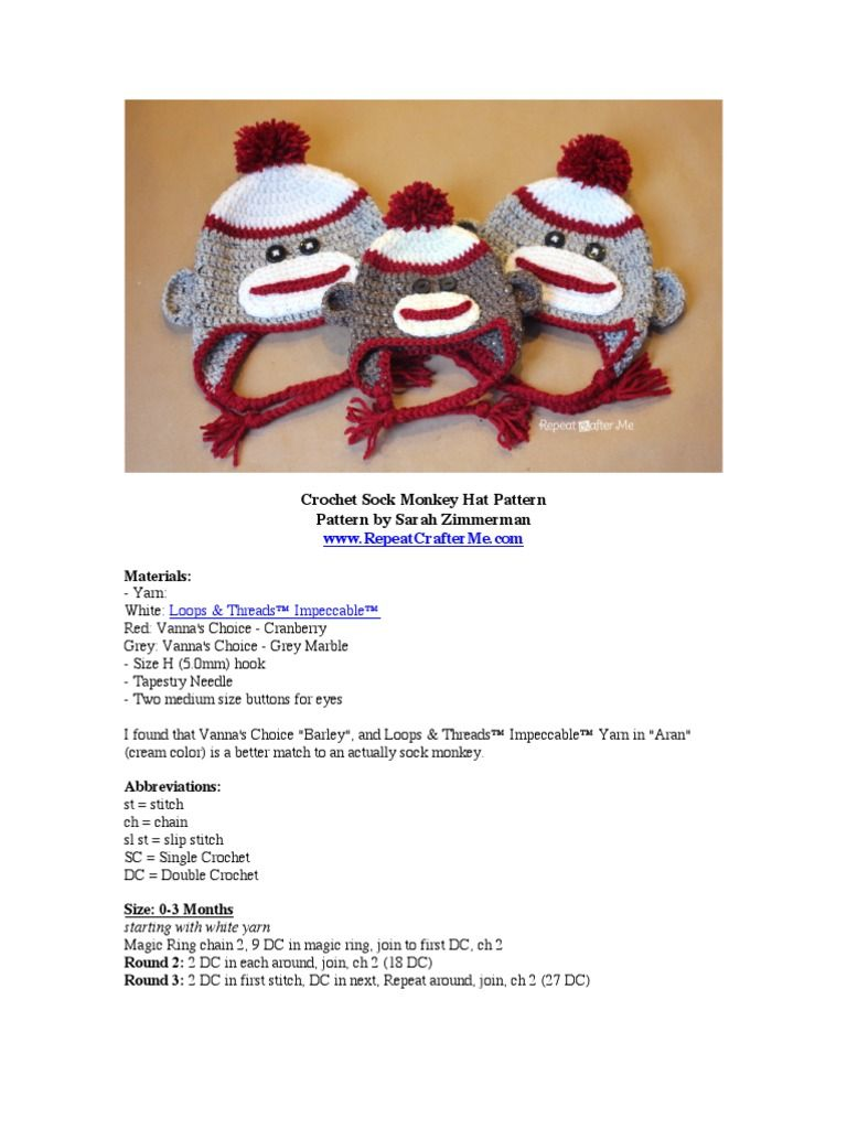 This is my friendlier take on the classic crochet sock monkey hat this is my friendlier take on the classic crochet sock monkey hat this pattern is bankloansurffo Images