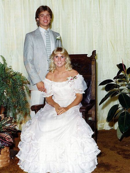 brad pitt prom photo | Brad Pitt and his prom date back in the 1980s. Not sure which one of ...