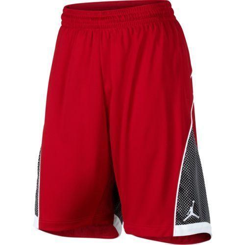 Nike Jordan Flight Premium Knit Shorts Red Black White