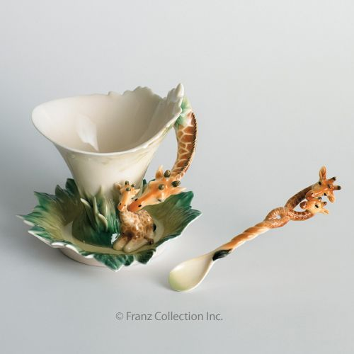 Filizanka Zyrafy Porcelana Franz Collection 2068472728 Oficjalne Archiwum Allegro Antique Tea Cups Tea Pots Tea Cups