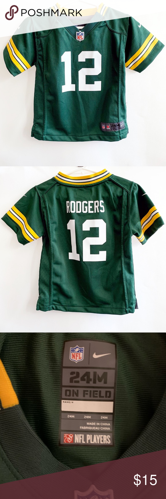 Aaron Rodgers Green Bay Packers 12 Jersey Baby Rodgers Green Bay Green Bay Packers Aaron Rodgers