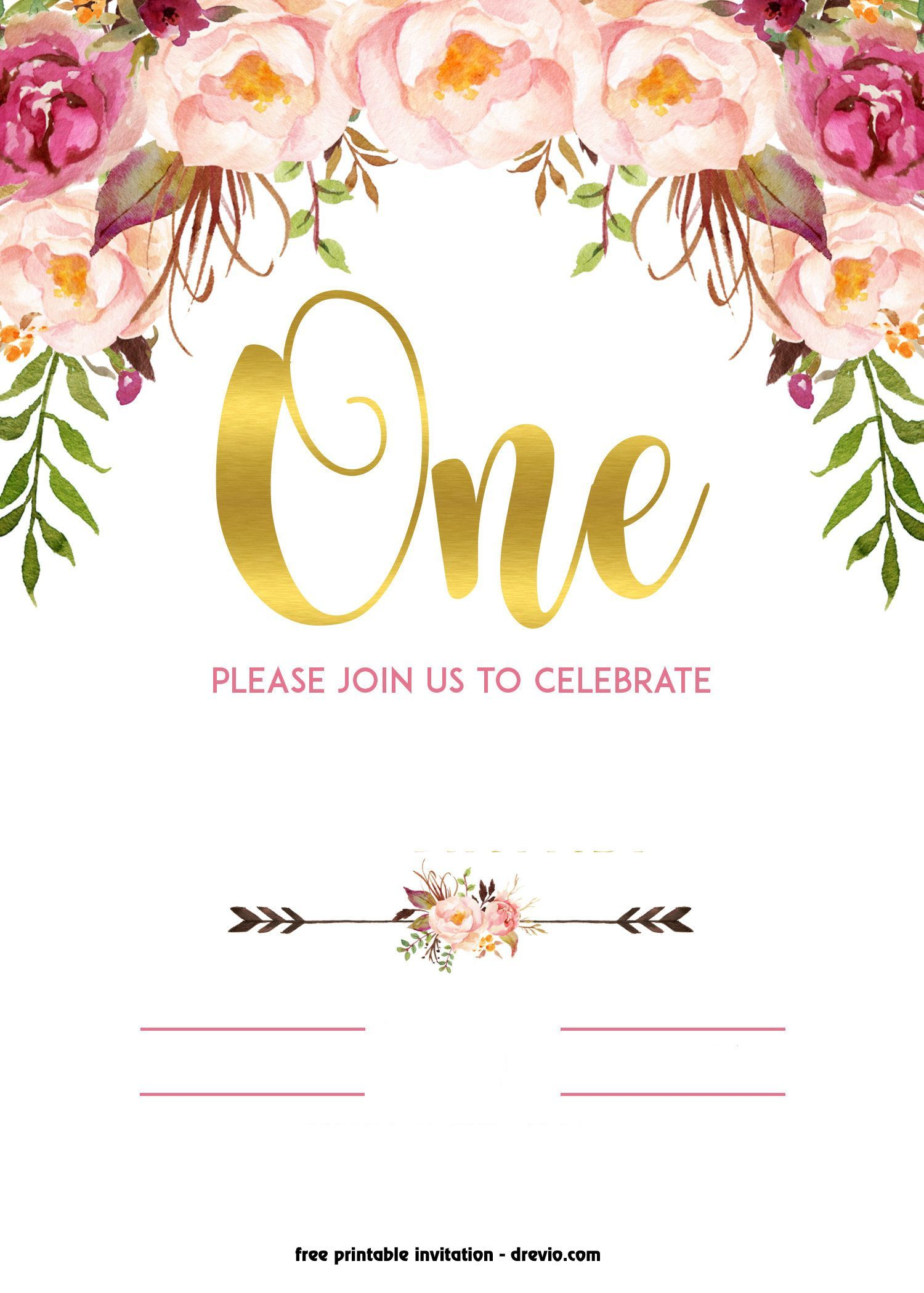 4 Inspiring Vintage Birthday Invitation Template Free Photos  in