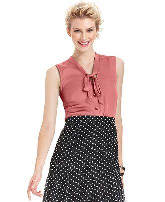 Elementz Blouse Sleeveless V Neck Womens Tops Macy S Clothes