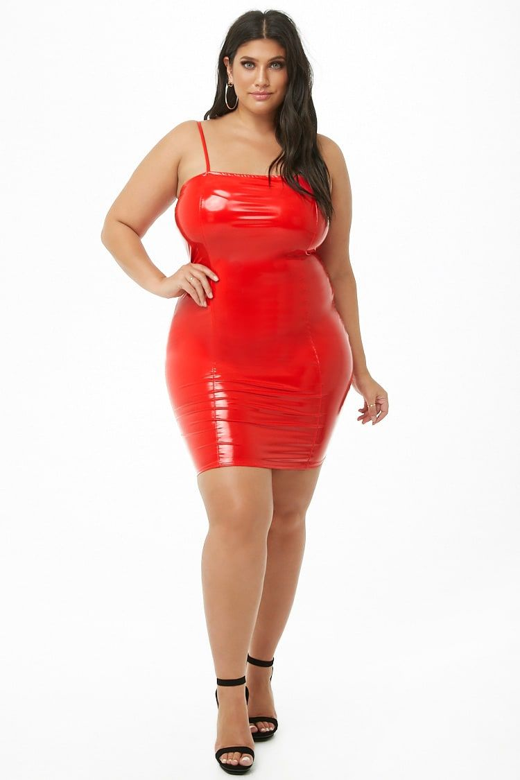 c2978c048eb Plus Size Vinyl Bodycon Dress
