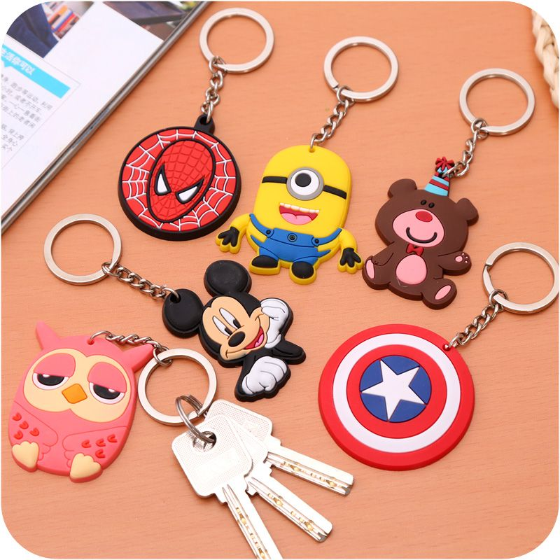 Cartoon Metal Keychain key ring Hanging Home decorative ornaments backpack Decoration Key chain decoration