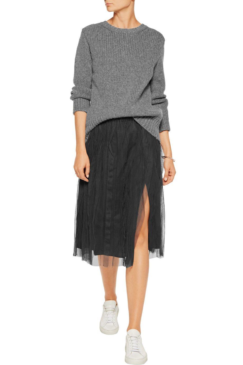 Brunello Cucinelli Cotton-tulle skirt .
