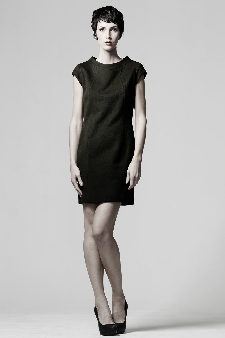 The Audrey Dress sewing pattern - A minimalistic shift dress with ...