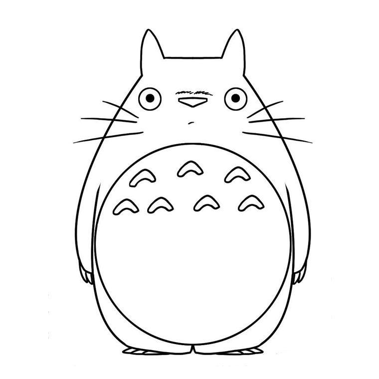Coloriage Totoro   Brico plastique fou   Pinterest   Totoro ...