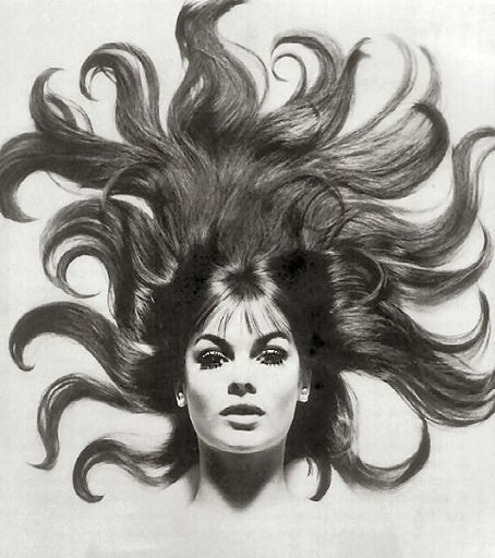 Amazing hair shot - Jean Shrimpton