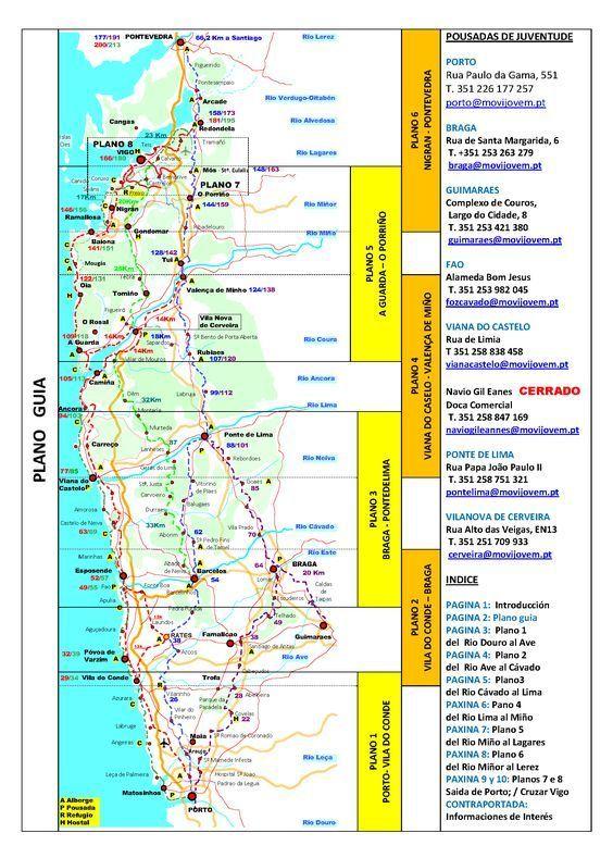 02 Plano Guia 2013 2 Jakobsweg Spanien Landkarte Camino Frances