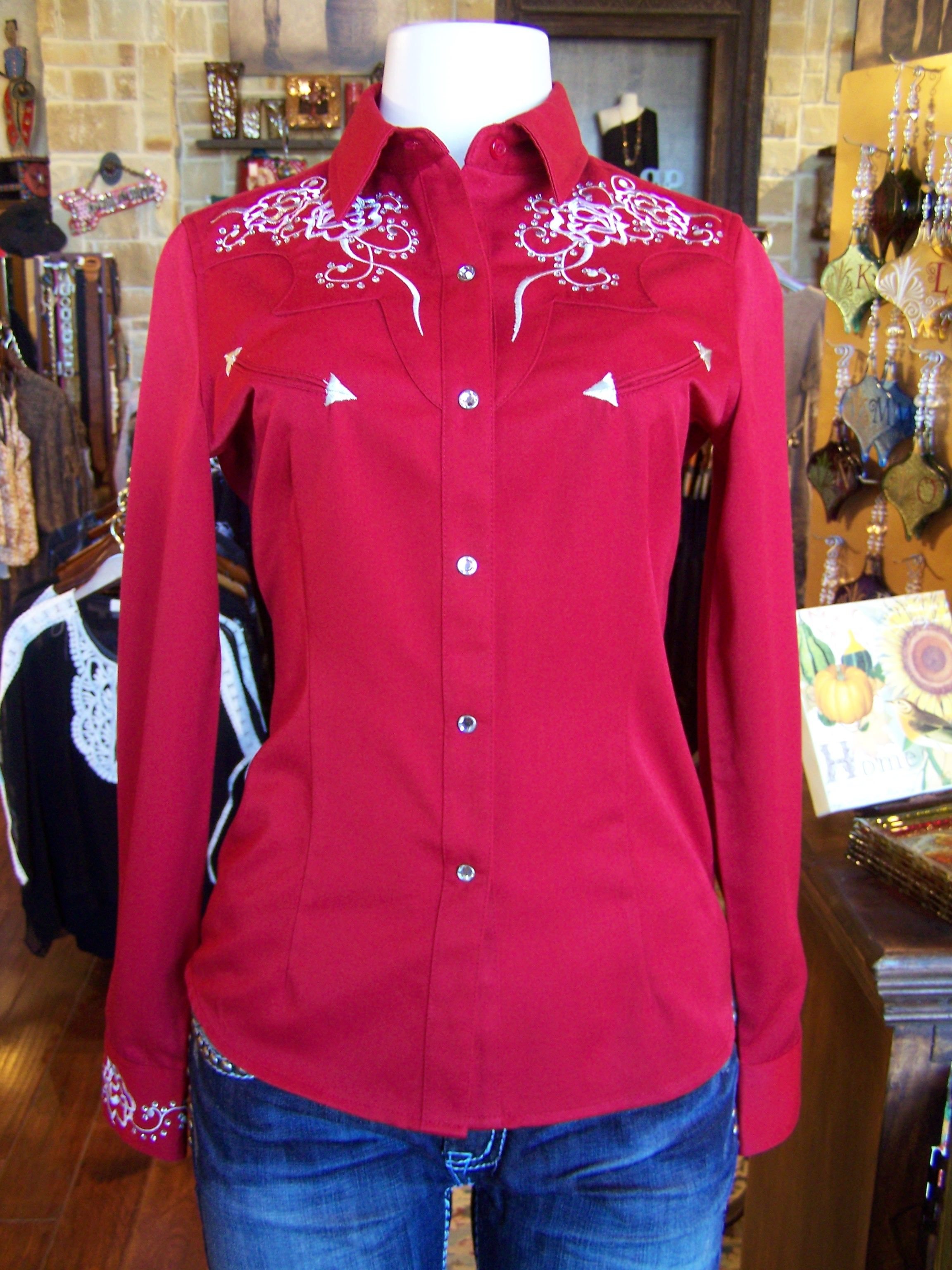 BONNIE Stars /& Stripes Chemises country western ref