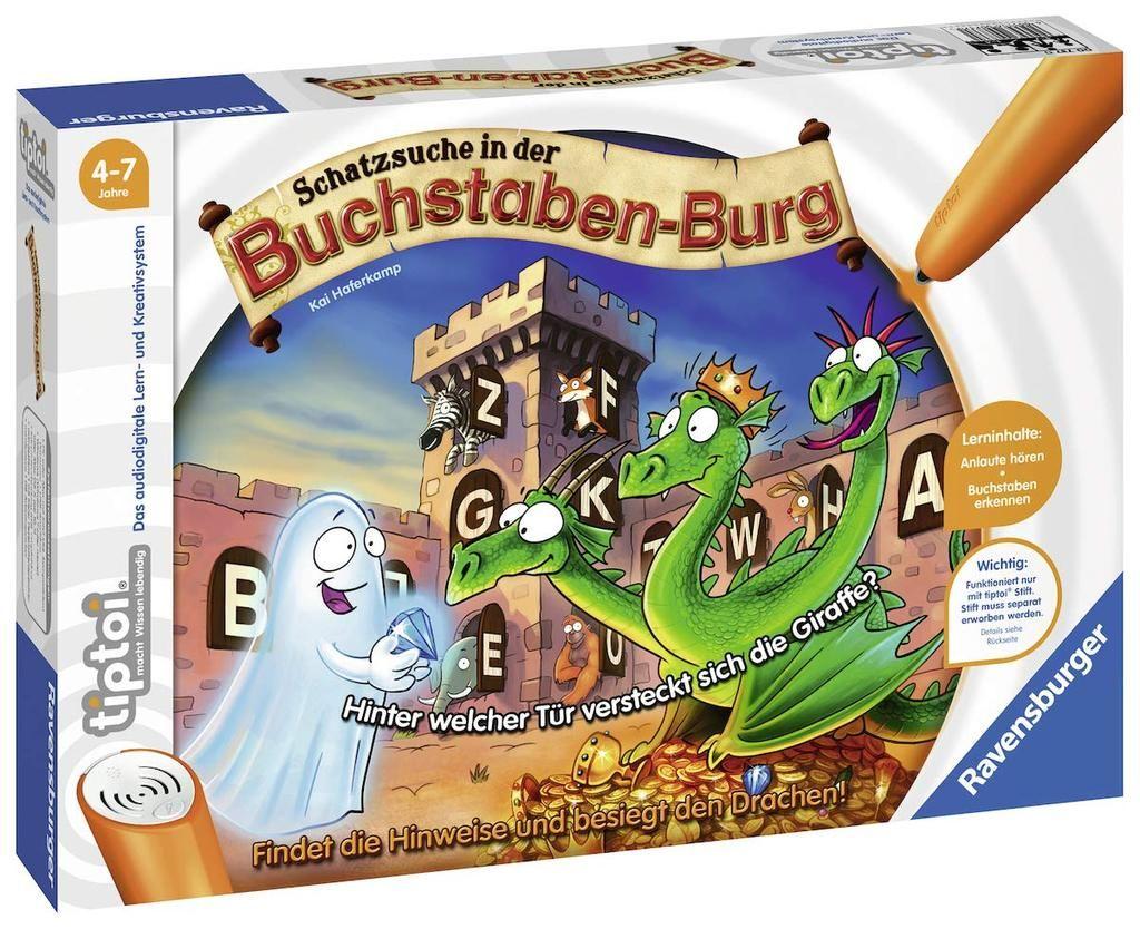 Ravensburger 00737 Tiptoi Schatzsuche In Der Buchstabenburg Interaktives Lernspiel Schatzsuche Ravensburger Spiele Tiptoi