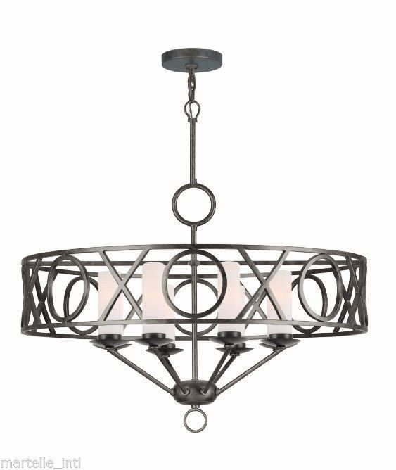 Modern Chandelier Dark English Bronze Finish Black 8 Bulbs Free Shipping New #Modern