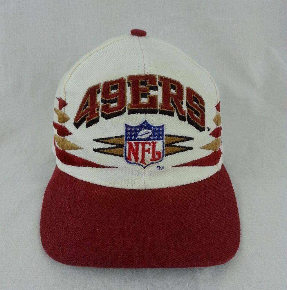 Vintage San Francisco 49ers NFL Diamond Spike Logo Athletic Snapback Hat   49ers  snapback  sanfrancisco 61d8f2a037d
