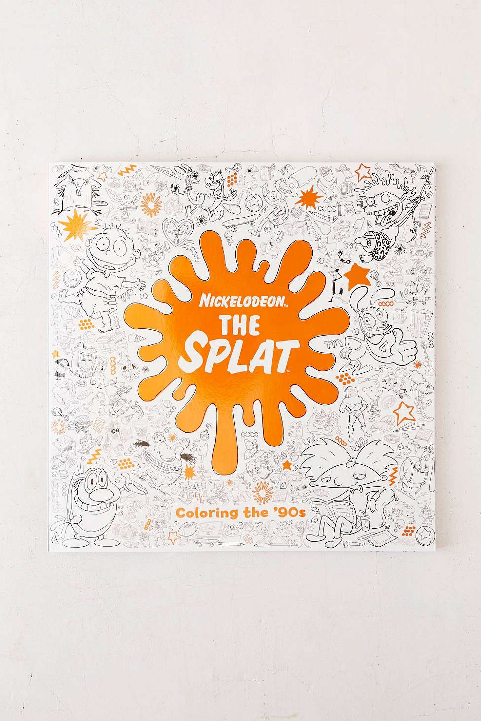 The Splat Coloring 90s Nickelodeon By Random House