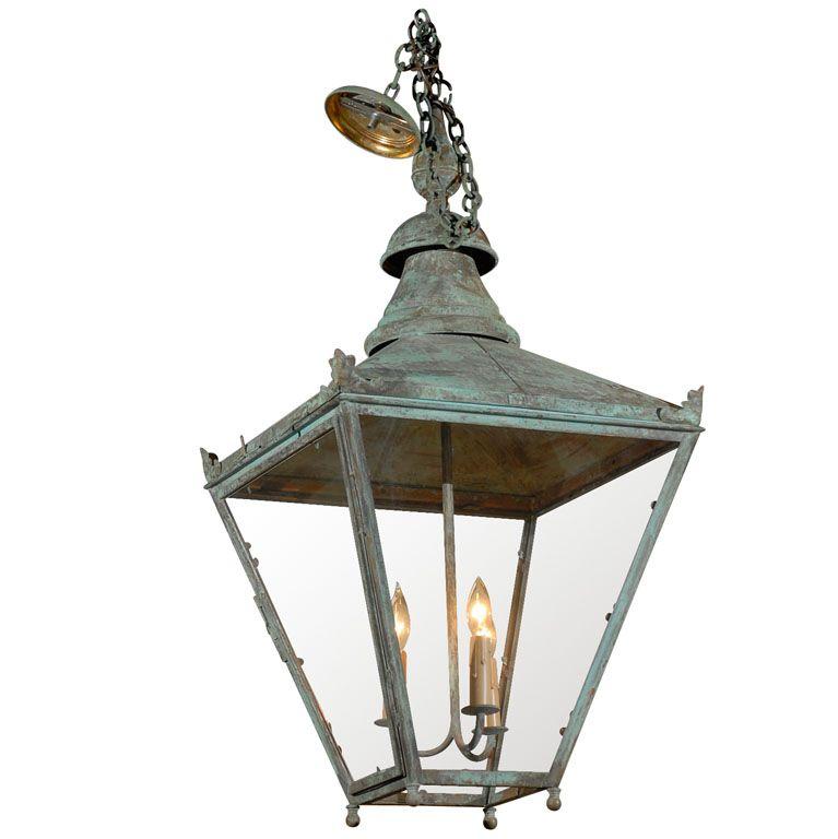 Antique Copper Lantern Patina Copper Lantern Modern Lanterns Lanterns