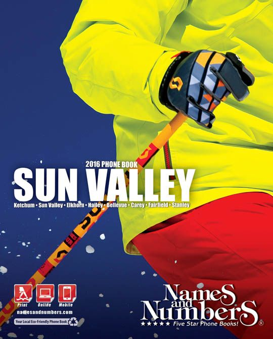 SUN VALLEY (Idaho) 2016 Yellow Pages and White Pages | Visit  www.namesandnumbers