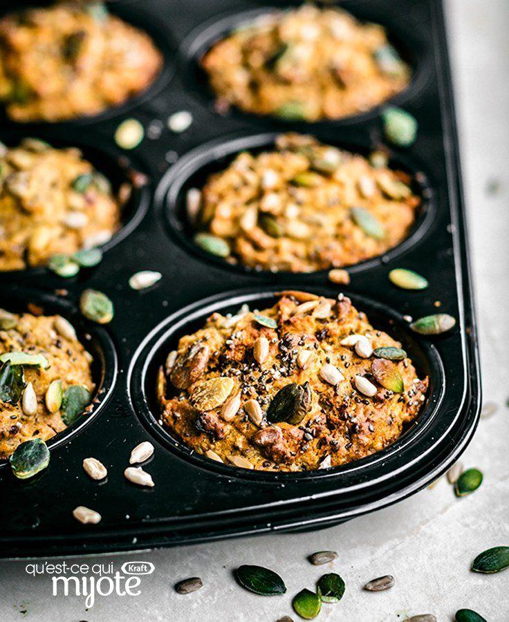 Muffins à la citrouille et aux graines de chia et de
