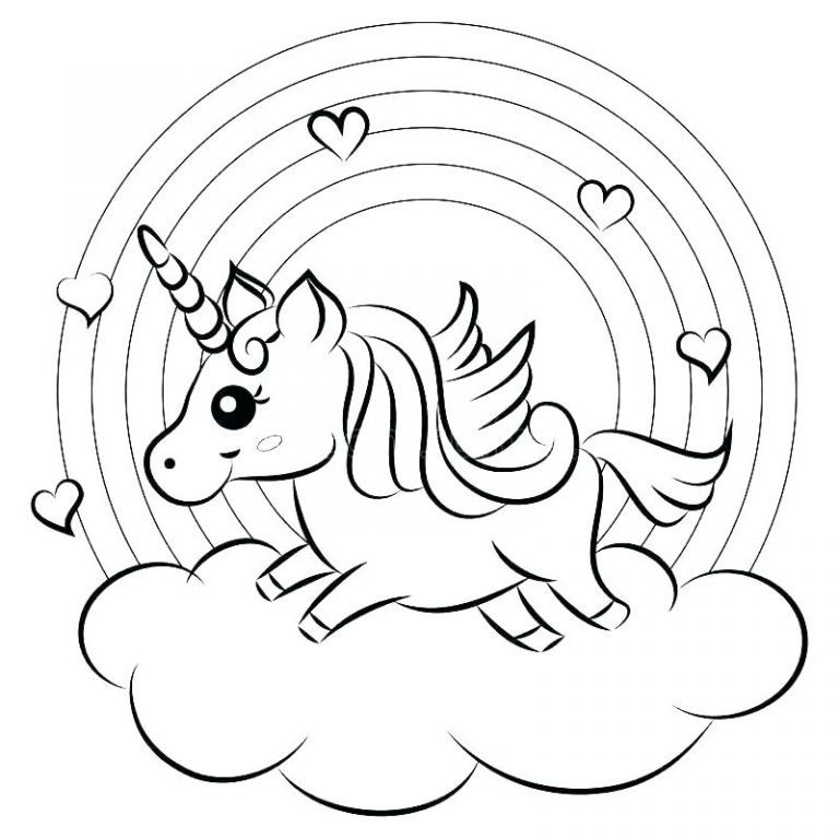Coloring Pages For Kids Unicorn And Rainbow Coloring Pages Coloring Pages  Rainbow Coloring Page … Cute Coloring Pages, Unicorn Coloring Pages,  Coloring Book Pages