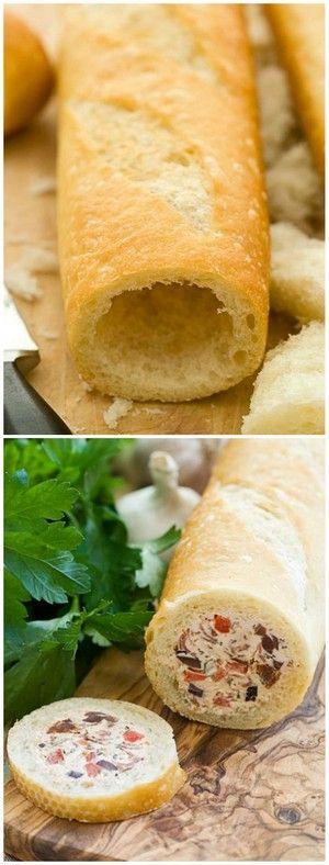 Stuffed Baguette | Bake a Bite