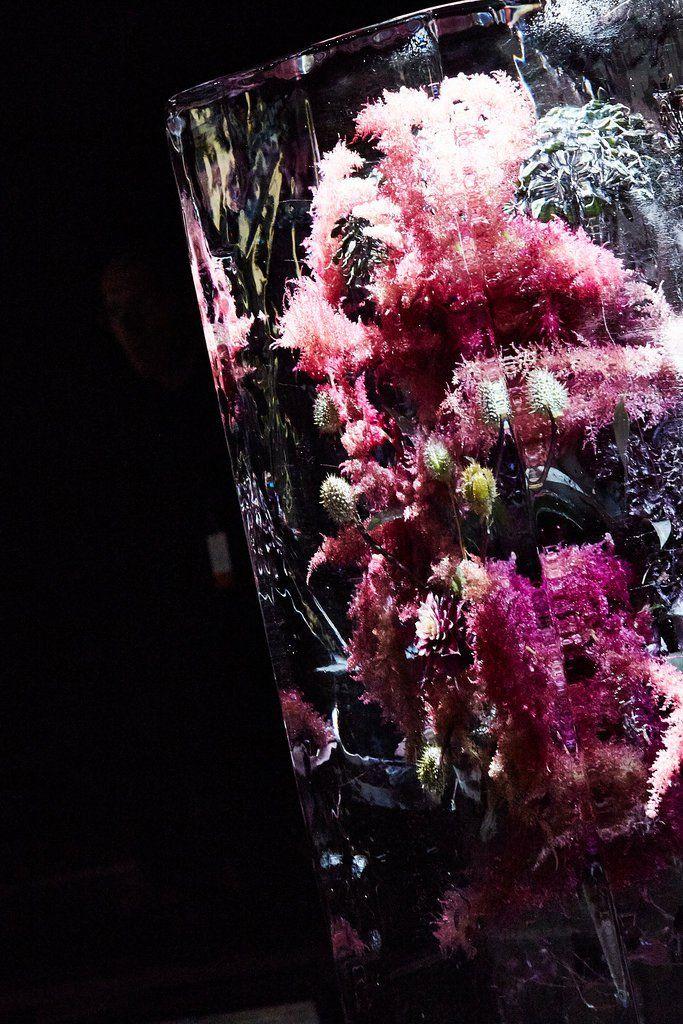 "Azuma Makoto's ""Iced Flowers"" at Dries Van Noten. Japanese  ArtistsSculptureIceVansMagazinesFlowersParis Fashion WeeksAzuma Makoto Searching"