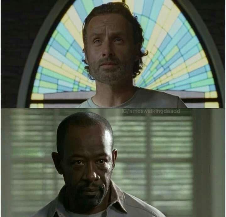 The Walking Dead Season 6 Episode 12 Not Tomorrow Yet Rick Grimes And Morgan Walking Dead Season 6 Walking Dead Season The Walking Dead